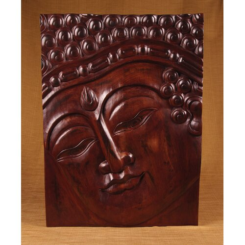 Miami Mumbai Wood Panels Buddha with Rectangle Band Wall Décor
