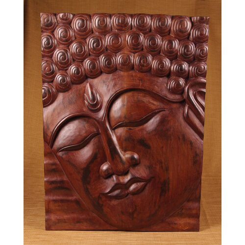 Miami Mumbai Wood Panels Buddha with No Headband Wall Décor