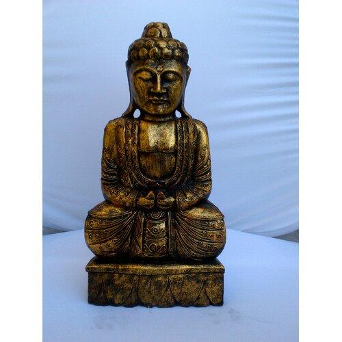 Miami Mumbai Wood CarvingsThai Budda Figurine