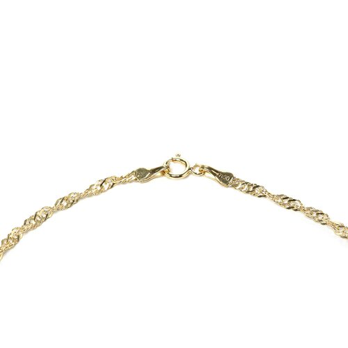 Jewelryweb 14k 2.10mm Singapore Anklet - Spring Ring