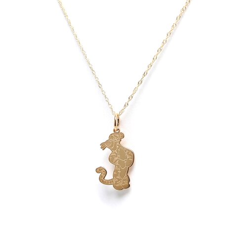 Jewelryweb Gold-plated Sterling Silver Disney Tigger Charm