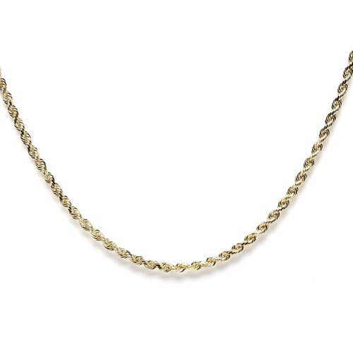 14k Yellow Gold D/C Rope Chain Necklace