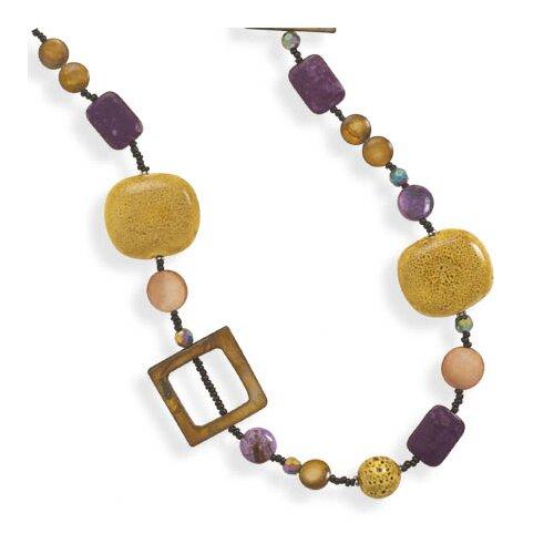 Jewelryweb 24 Inch+2 InchExtention Multibead Necklace