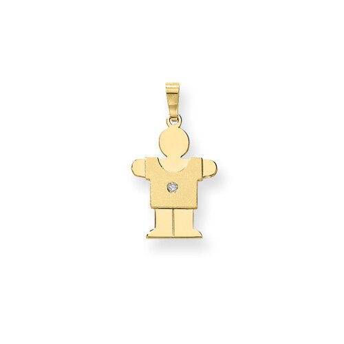 14k Diamond kid Pendant