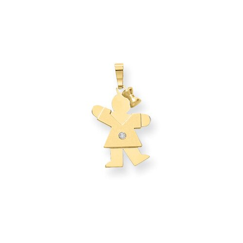 Jewelryweb 14k Diamond kid Pendant