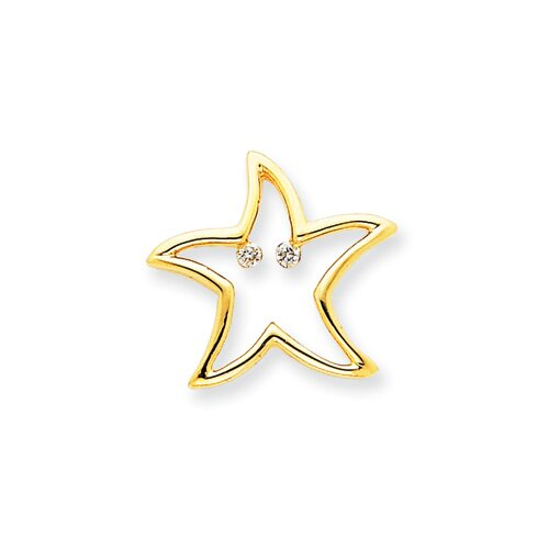 Jewelryweb 14k Diamond Star Pendant
