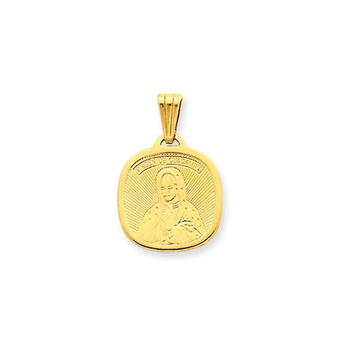 Jewelryweb 14K Our Lady of Guadalupe Pendant