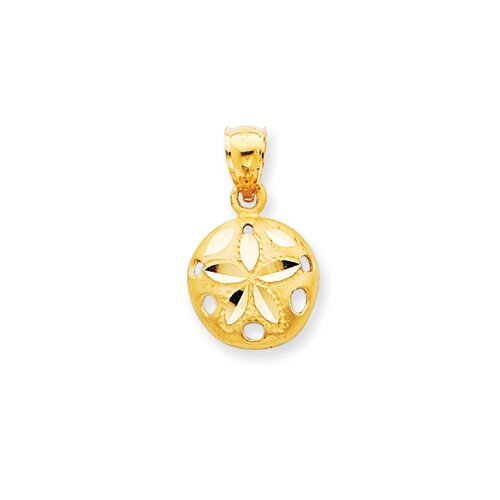 Jewelryweb 14K Sand Dollar Pendant