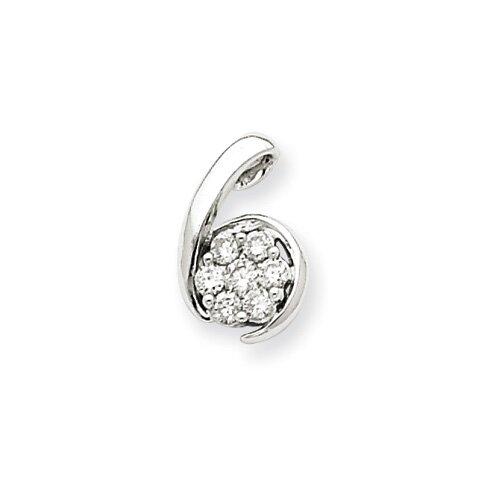 Jewelryweb 14k White Gold Diamond Pendant