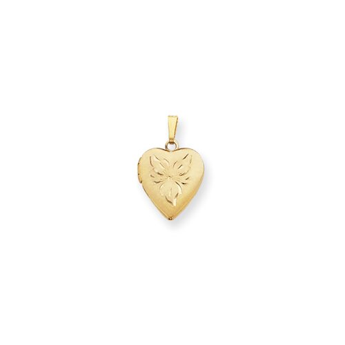 Jewelryweb Gold-plated Heart Locket Necklace - 18 Inch