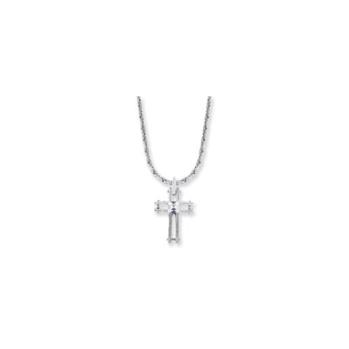 Silver-tone Cross Necklace - 18 Inch