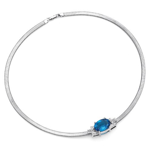 Jewelryweb Simulated Aquamarine Necklace