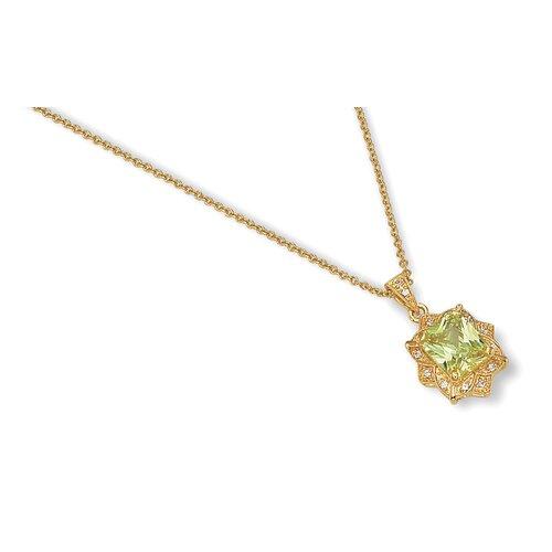 Simulated Peridot Necklace