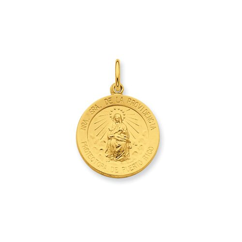 Ste. Silver 24k Gold -plated Our Lady of Providencia Pendant