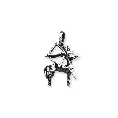 Jewelryweb Sterling Silver Antiqued Pendant