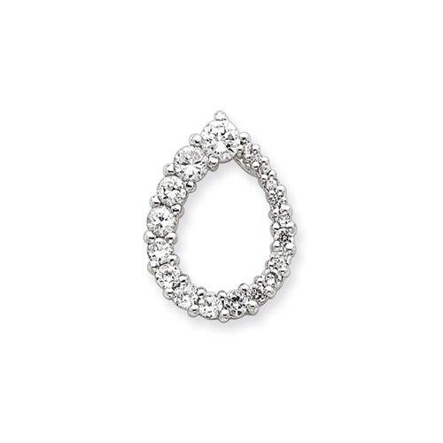 Jewelryweb Sterling Silver CZ Journey Pendant
