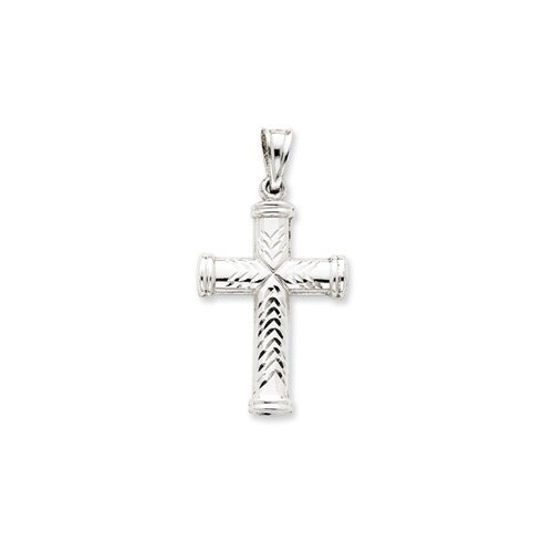 Sterling Silver Diamond-Cut Reversible Cross Pendant