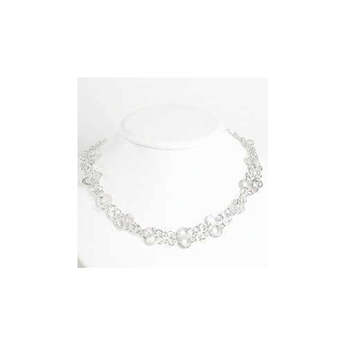 Jewelryweb Sterling Silver Fancy Necklace - 18 Inch- Lobster Claw