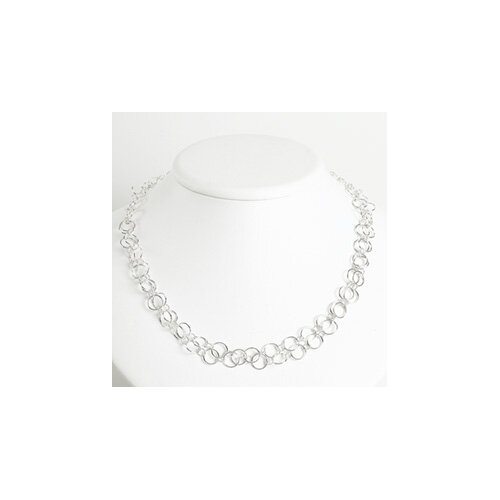 Jewelryweb Sterling Silver Fancy Necklace - 42 Inch- Lobster Claw