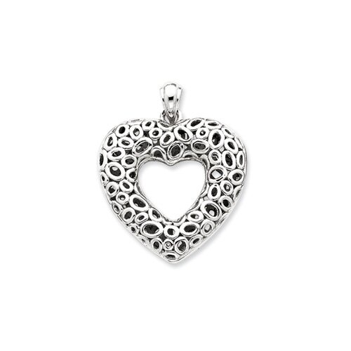Jewelryweb Sterling Silver Heart Pendant
