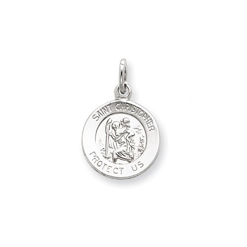 Jewelryweb Sterling Silver Saint Christopher Medal Pendant