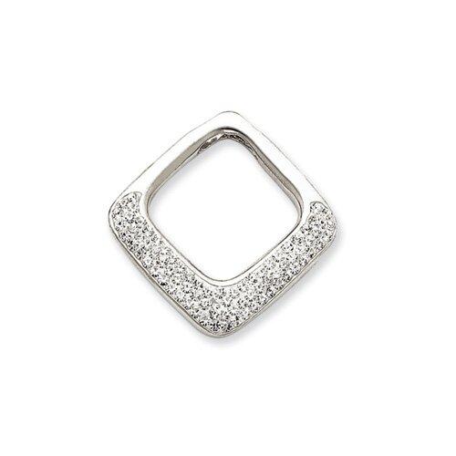 Jewelryweb Sterling Silver swarovski Crystal Pendant