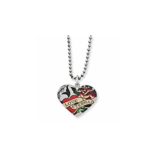 Ed Hardy Eternal Love Rose Heart Necklace