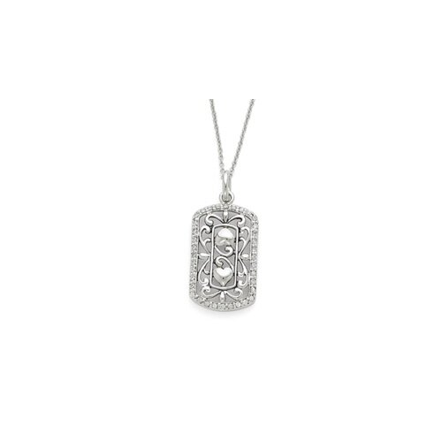 Jewelryweb Sterling Silver CZ Thankful For You 18inch Necklace