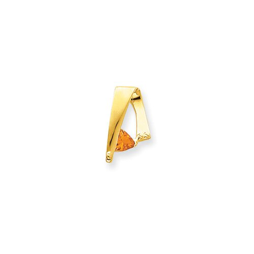 14k Citrine Diamond slide