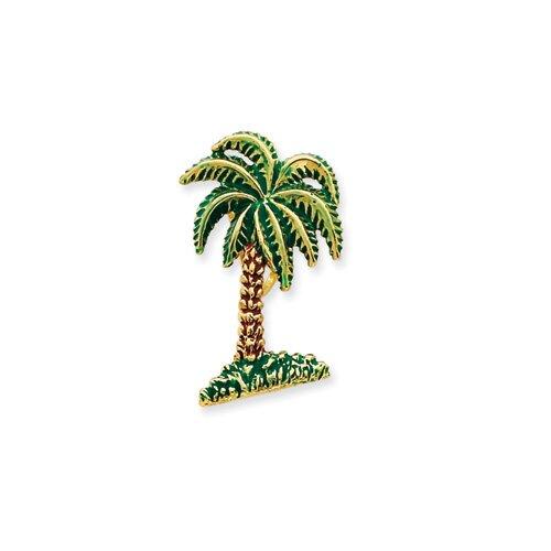14k Enameled Palm Tree Slide