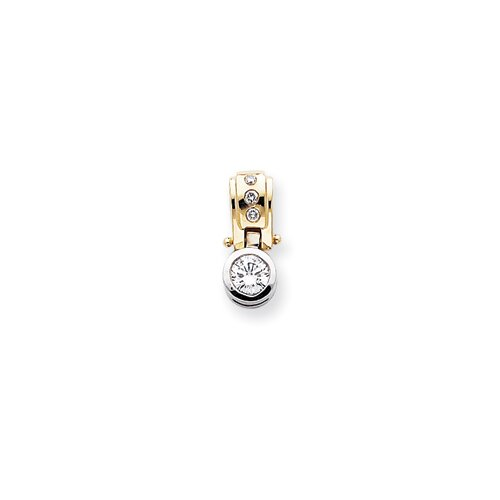 Jewelryweb 14k Two-tone Diamond Slide