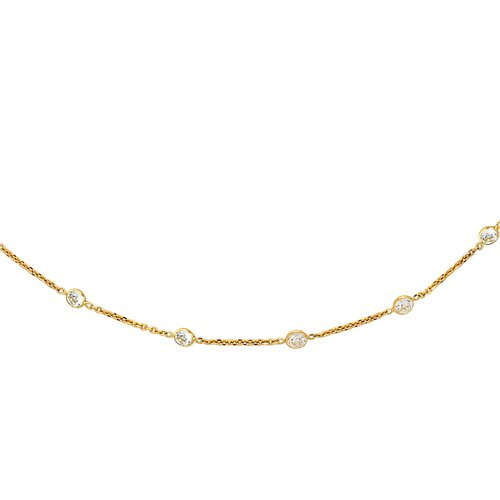 Jewelryweb 14k CZ By Yard Necklace - 16 Inch