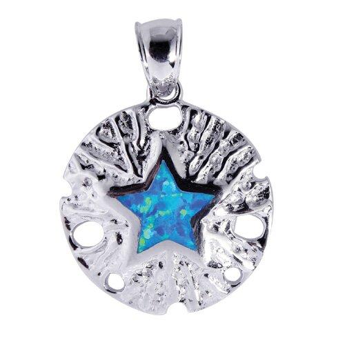 Jewelryweb Sterling Silver Enamel Pendant