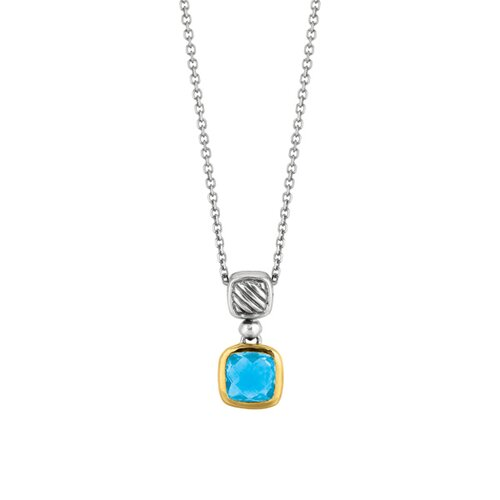 Sterling Silver 18K Pendant With 18 Inch Chain