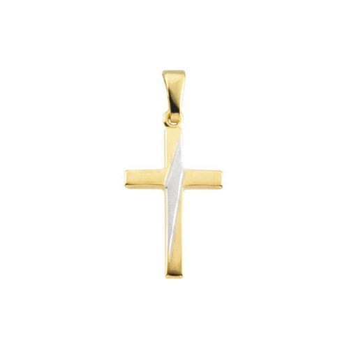 14k Two-Tone Cross Pendant24.25x16mm