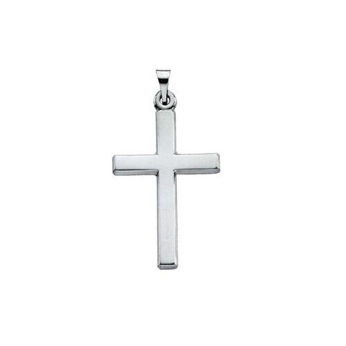 Jewelryweb 14k White Gold Cross Pendant24.5x16.5mm