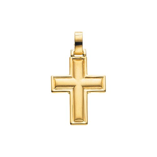Jewelryweb 14k Yellow Gold Cross Pendant22.5x18mm