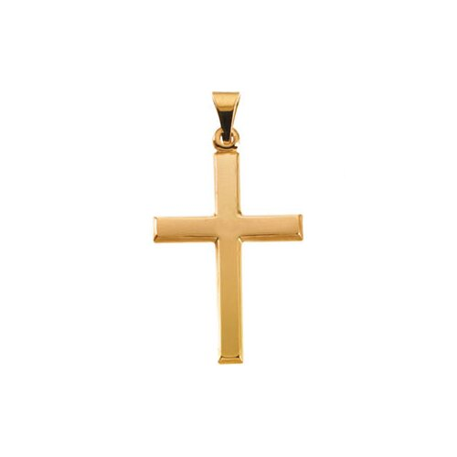 Jewelryweb 14k Yellow Gold Cross Pendant26x19mm