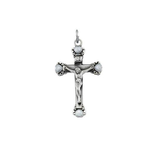 Jewelryweb Sterling Silver PendantCrucifix 29 X 17.5mm