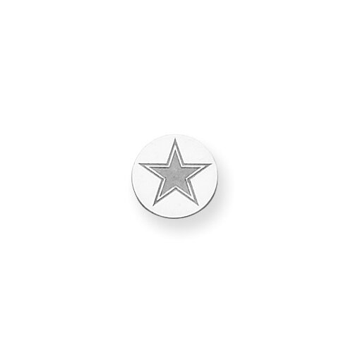 Jewelryweb Sterling Silver Dallas Cowboys Tie Tac