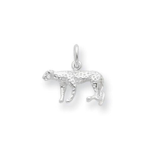Jewelryweb Sterling Silver Leopard Charm