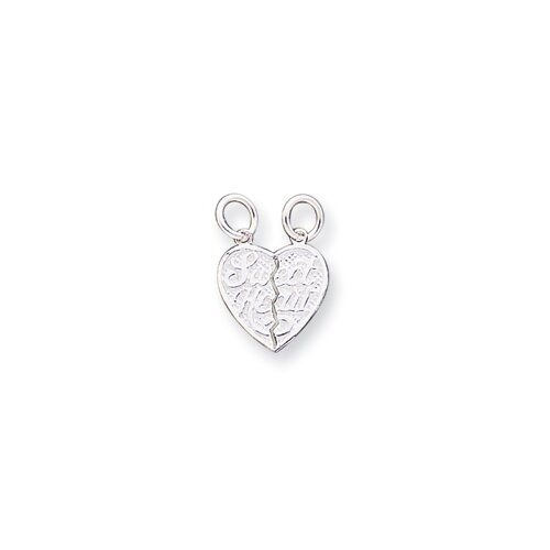 Sterling Silver Sweet Heart 2-Piece Break Apart Heart Charm