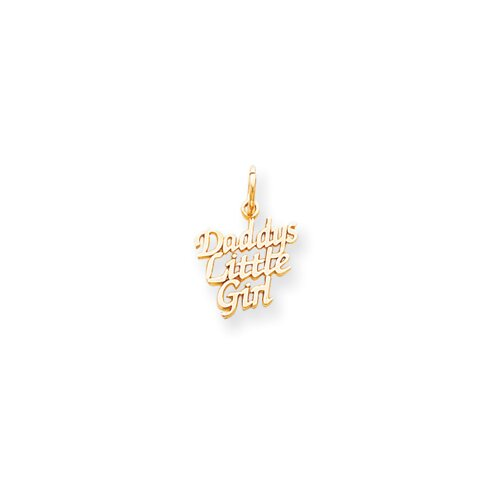 Jewelryweb Daddys Little Girl Charm
