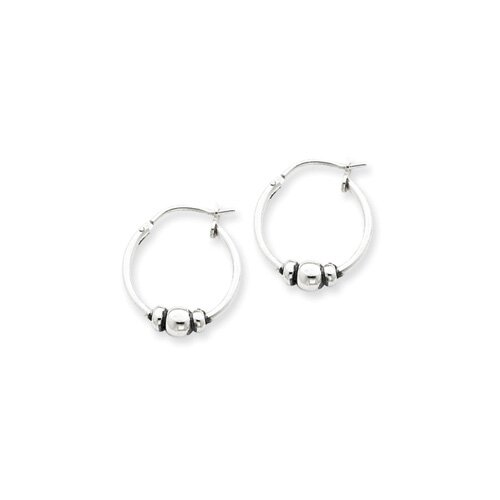 Jewelryweb Sterling Silver Hoop Earrings