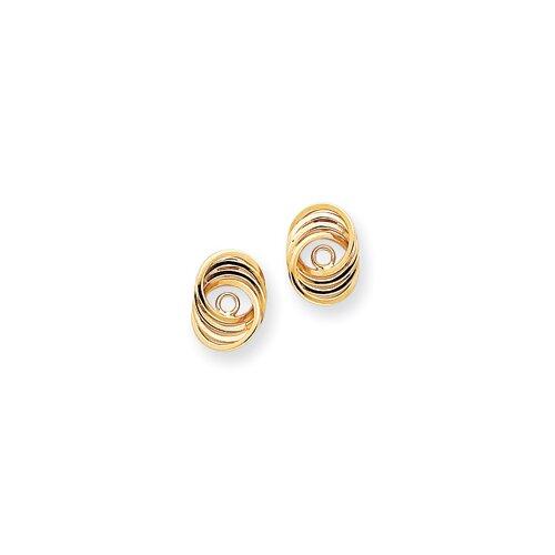 Jewelryweb 14k Polished Love Knot Earrings Jackets