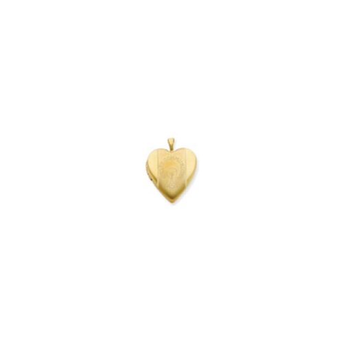 Jewelryweb 1/20 Gold Filled 20mm First Communion Heart Locket