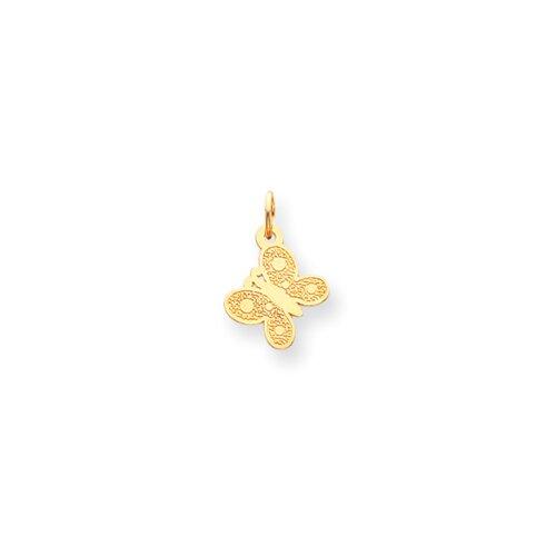 Jewelryweb 14k Butterfly Childrens Necklace