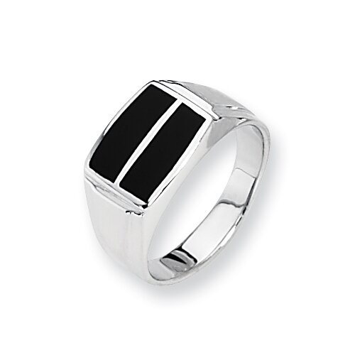 Sterling Silver and Onyx Mens Ring