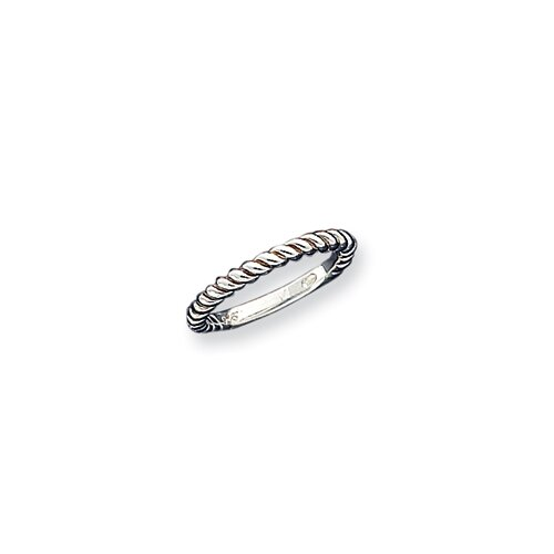 Jewelryweb Sterling Silver Stackable Twist Ring