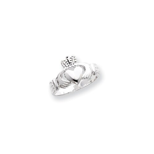 Jewelryweb Sterling Silver Claddagh Ring